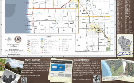 Calumet County Road Map County Side