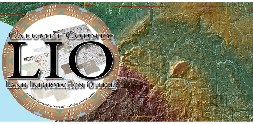 Calumet County Shaded Relief Picture with Logo